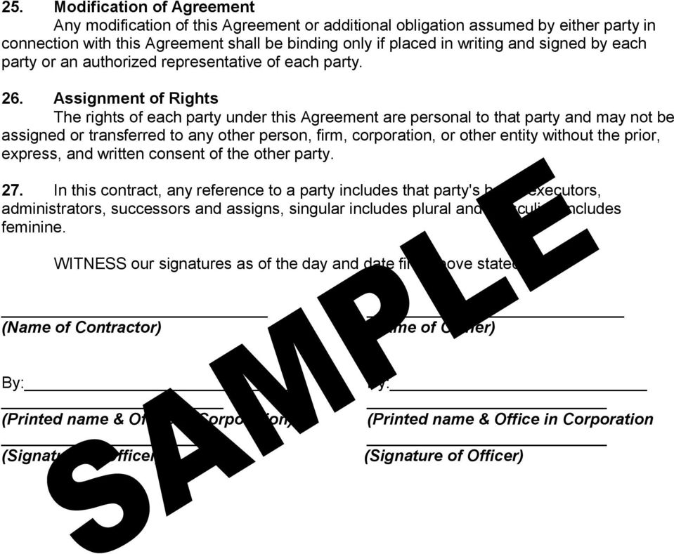 Assignment of Rights The rights of each party under this Agreement are personal to that party and may not be assigned or transferred to any other person, firm, corporation, or other entity without