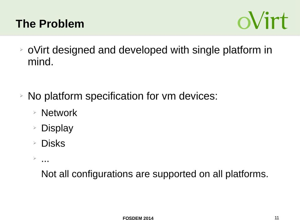 No platform specification for vm devices: Network