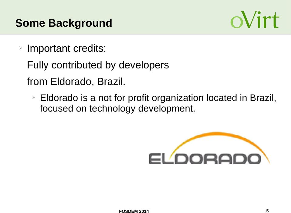 Eldorado is a not for profit organization located
