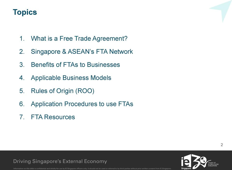Benefits of FTAs to Businesses 4.