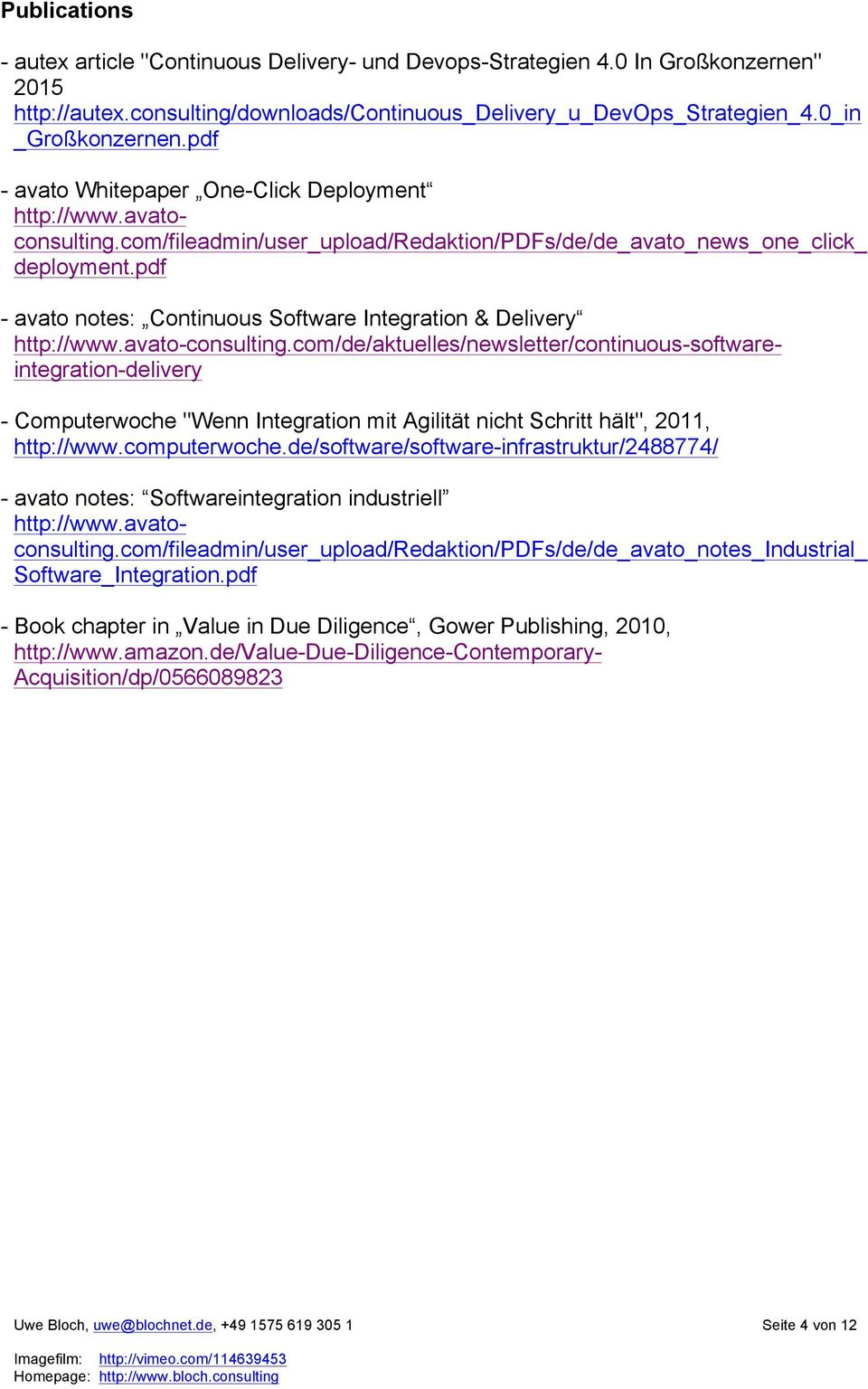 pdf - avato notes: Continuous Software Integration & Delivery http://www.avato-consulting.