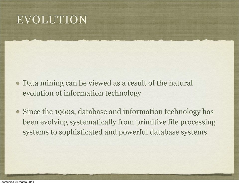 information technology has been evolving systematically from
