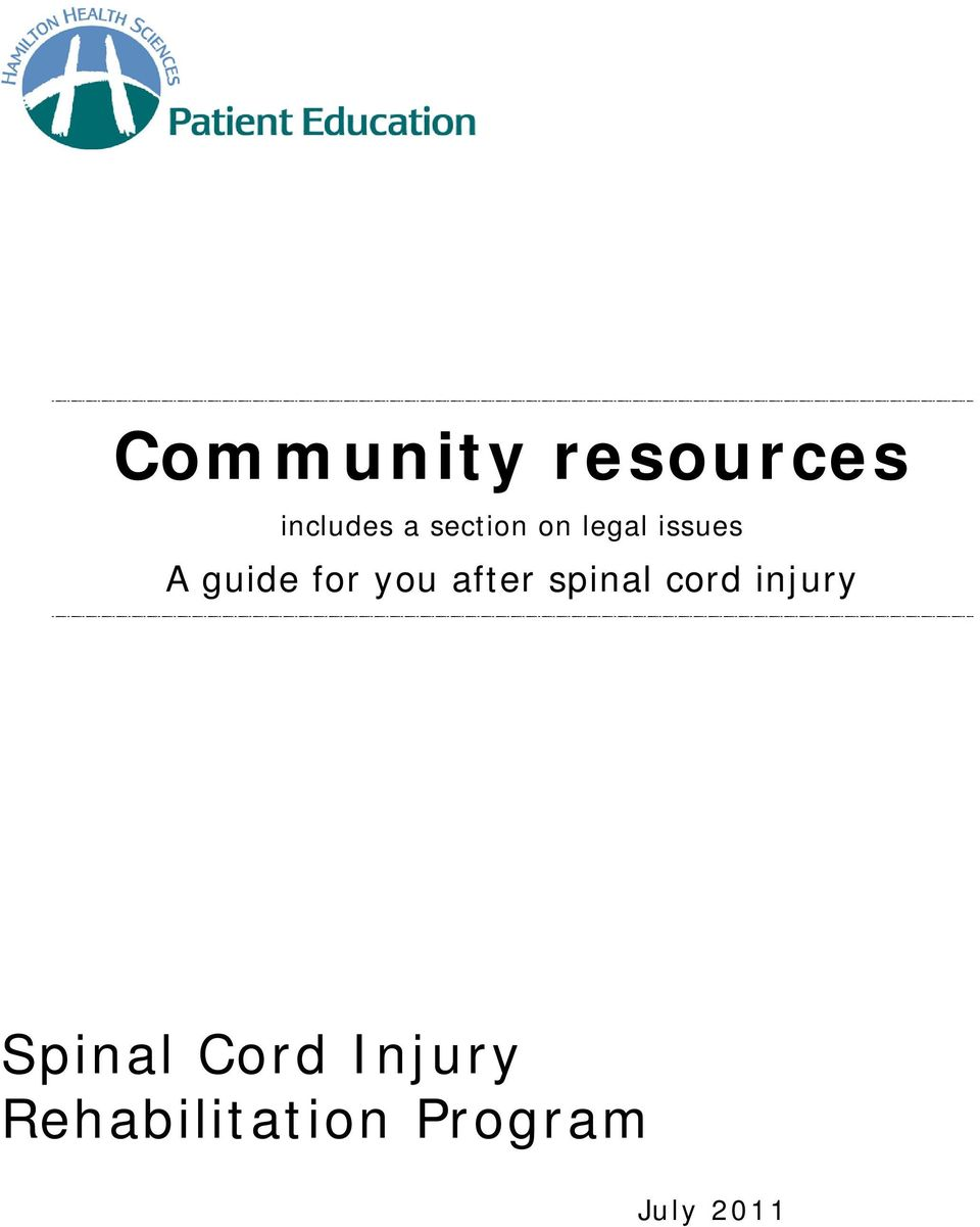 you after spinal cord injury Spinal