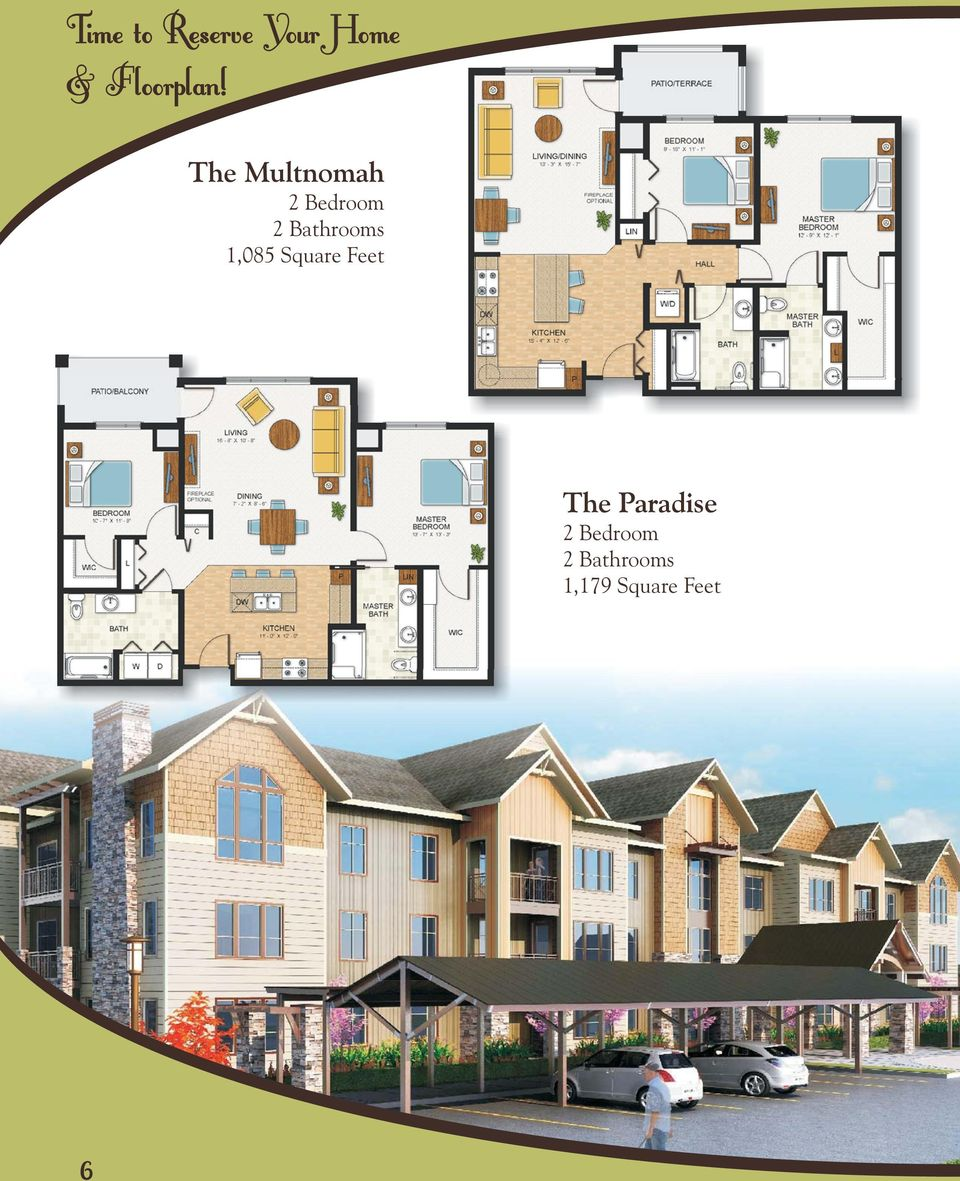 The Multnomah 2 Bedroom 2 Bathrooms