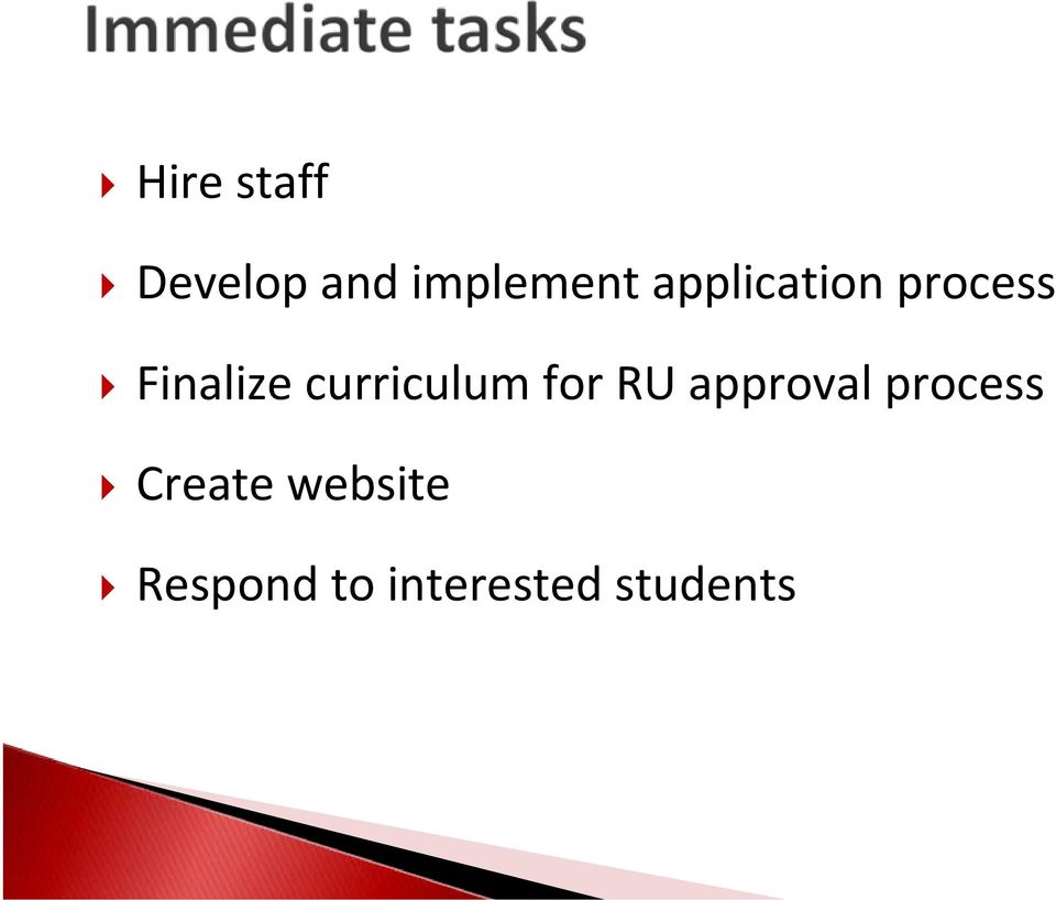 curriculum for RU approval process