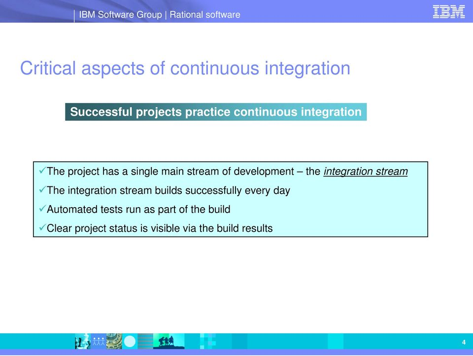 integration stream The integration stream builds successfully every day