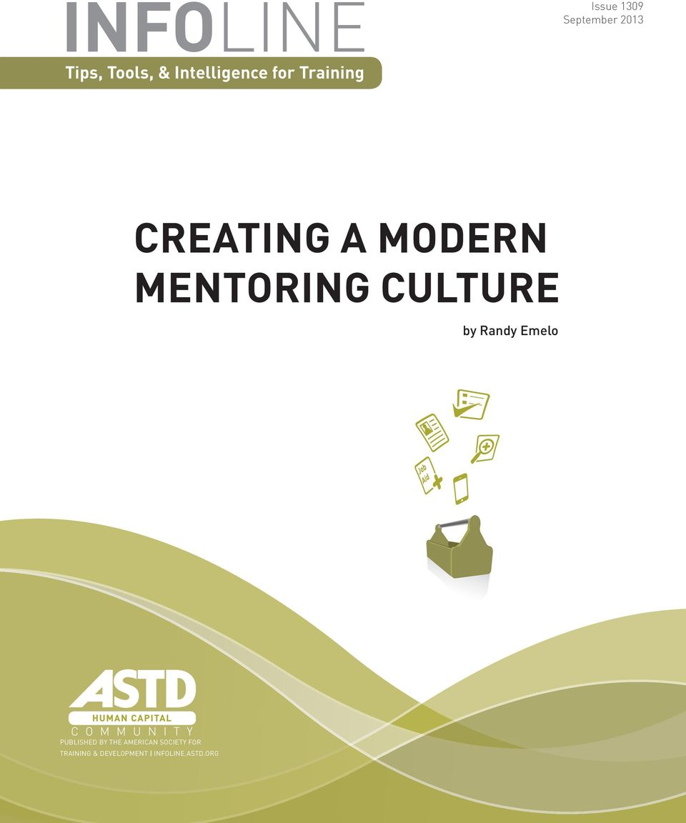 MENTORING CULTURE by Randy Emelo PUBLISHED BY THE