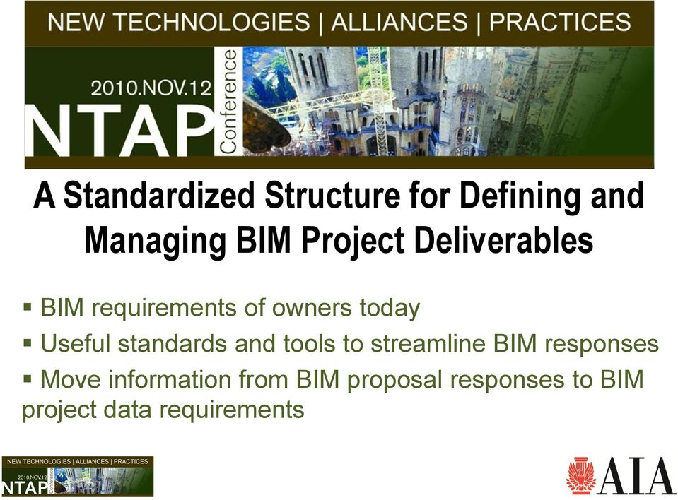 standards and tools to streamline BIM responses Move