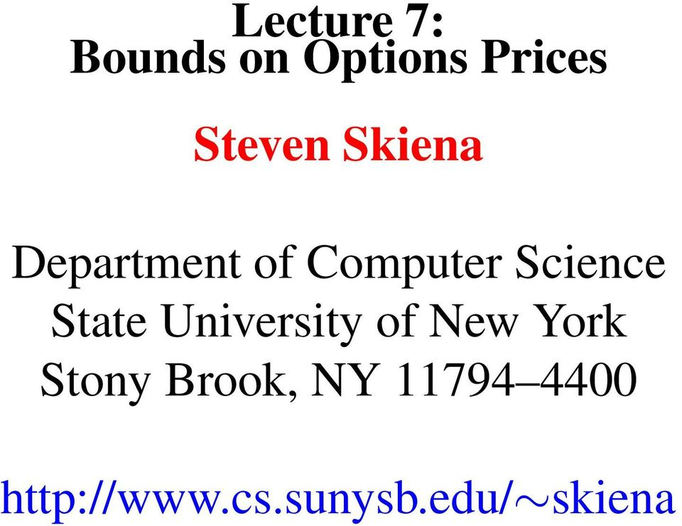 State University of New York Stony Brook,