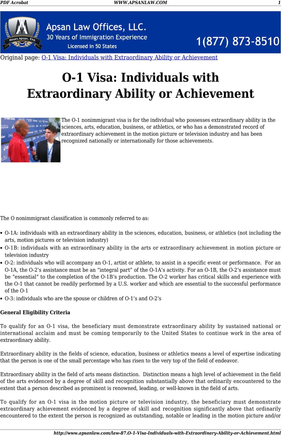 who possesses extraordinary ability in the sciences, arts, education, business, or athletics, or who has a demonstrated record of extraordinary achievement in the motion picture or television