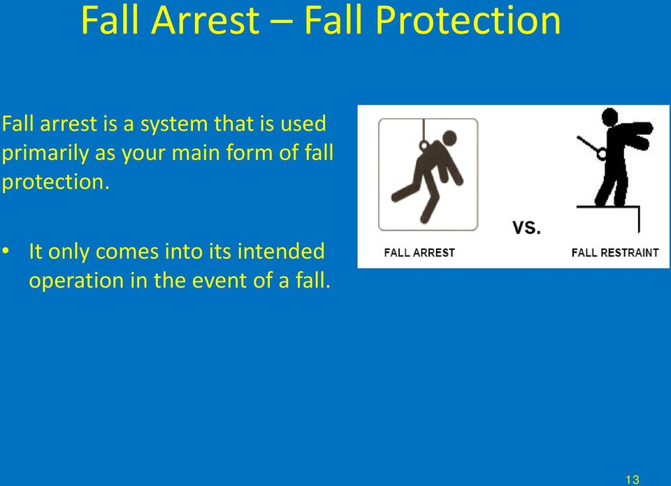 form of fall protection.