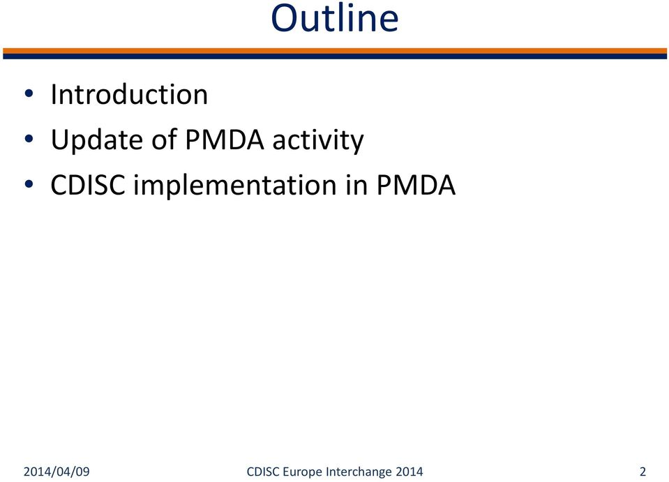 implementation in PMDA