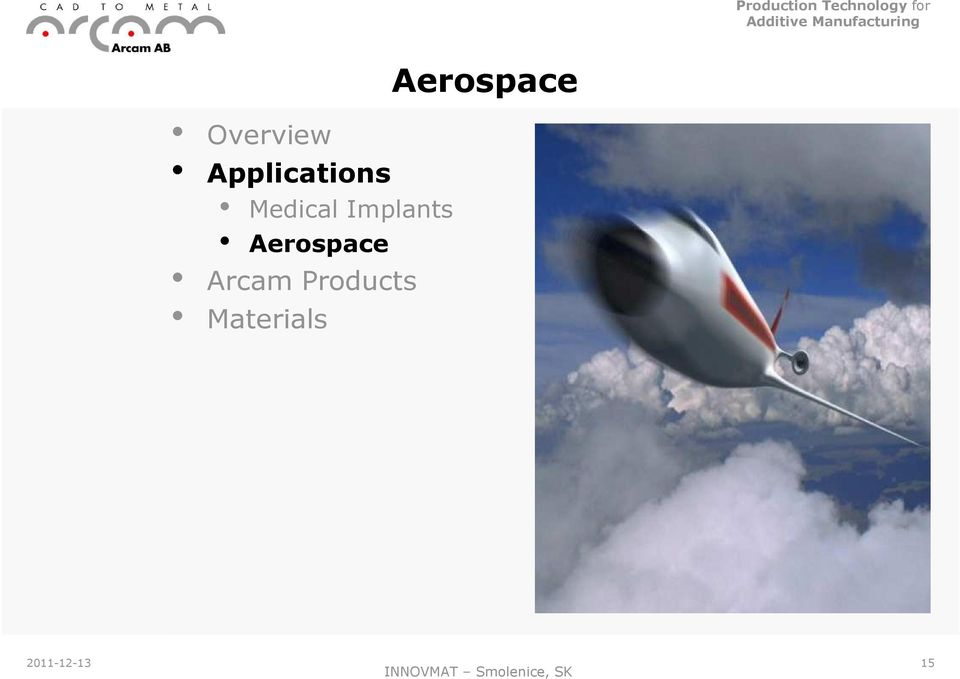 Aerospace Arcam Products