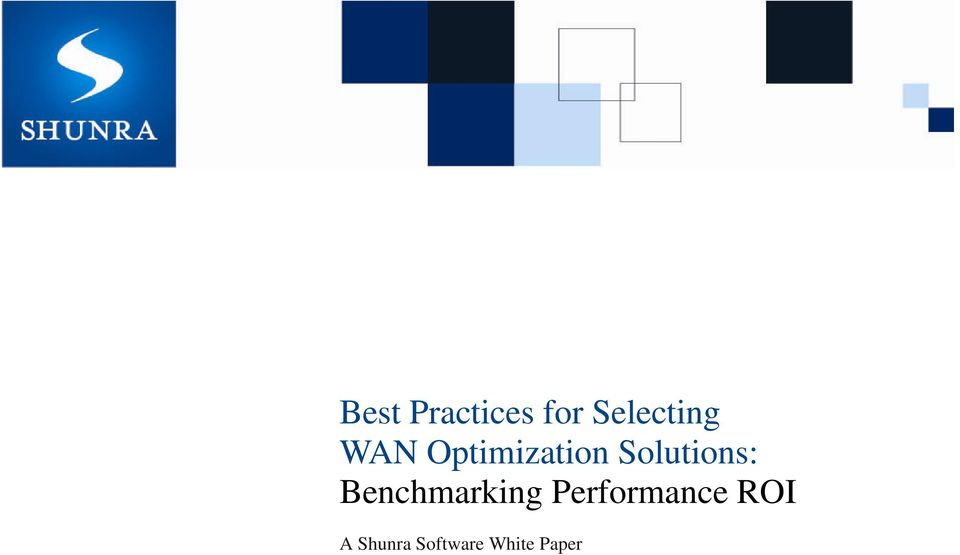 Benchmarking Performance ROI
