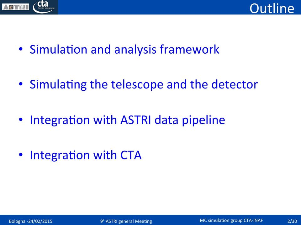 data pipeline Integra,on with CTA Bologna -