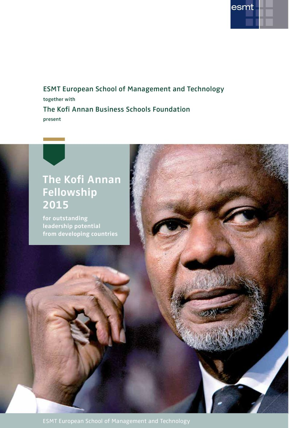 Annan Fellowship 2015 for outstanding leadership potential from