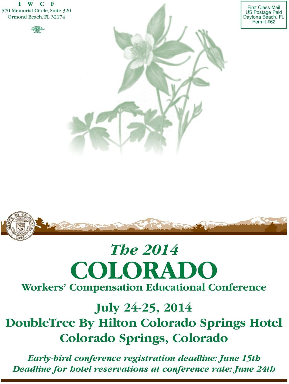 Conference DoubleTree By Hilton Colorado Springs Hotel Colorado Springs, Colorado Early-bird