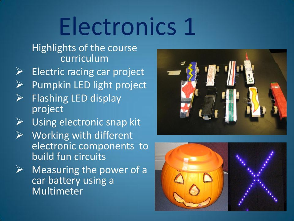 electronic snap kit Working with different electronic components to