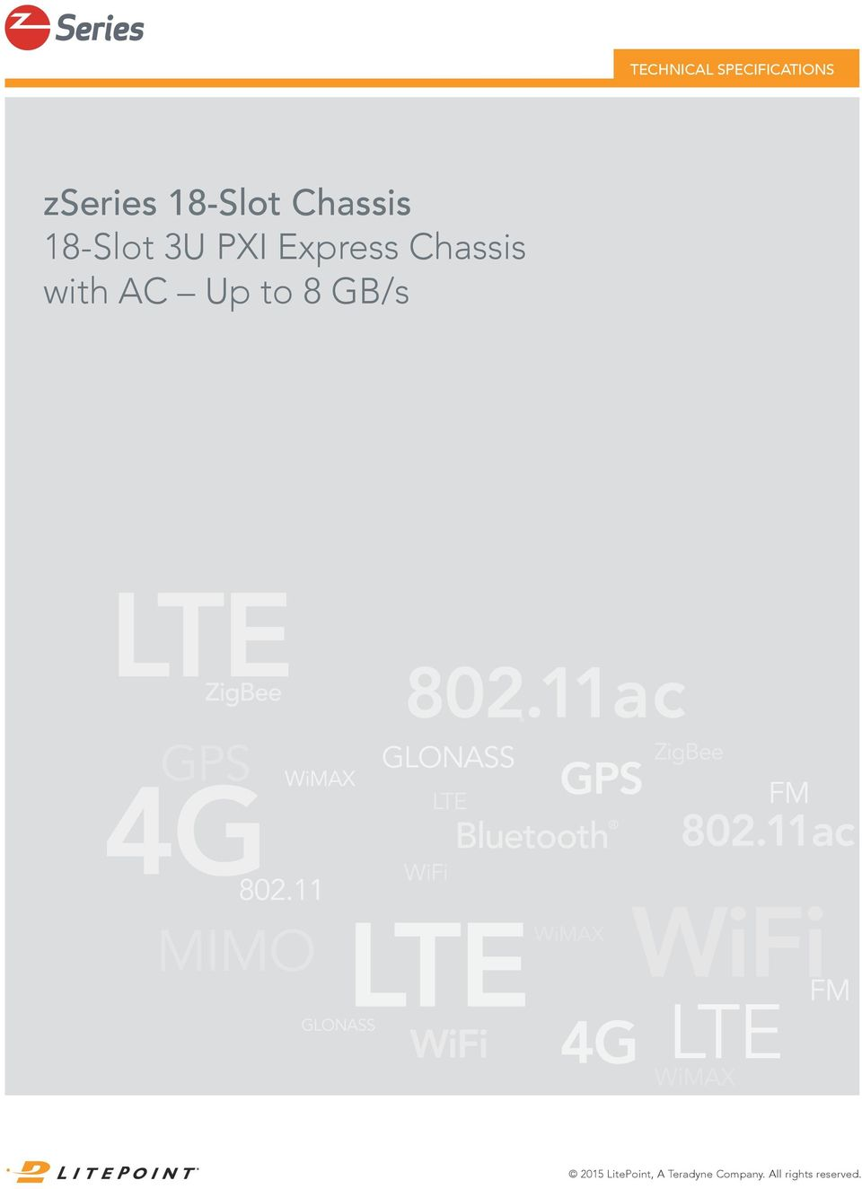 Chassis with AC Up to 8 GB/s 2015