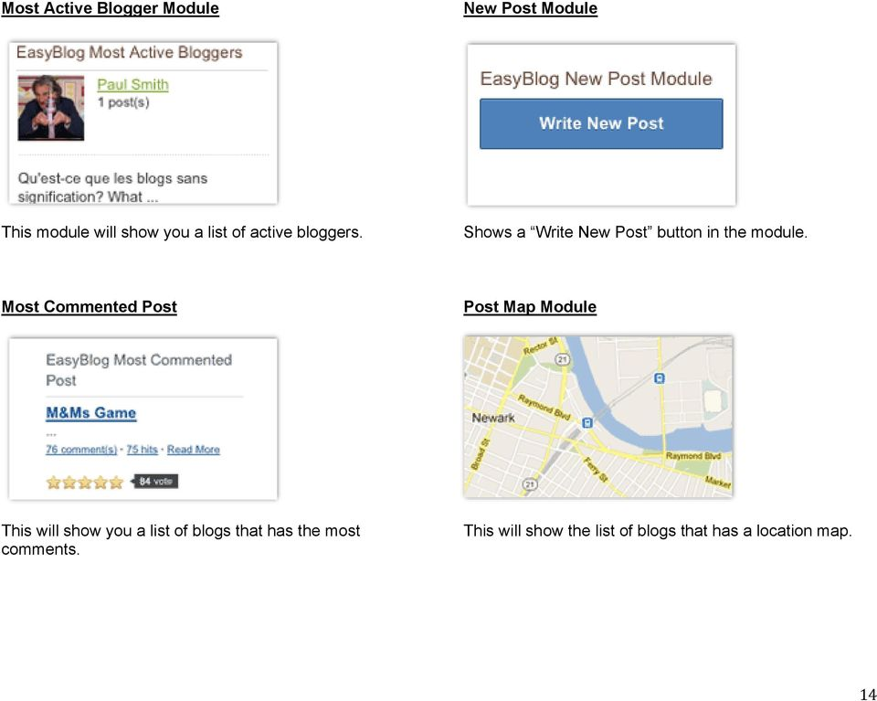 Most Commented Post Post Map Module This will show you a list of blogs