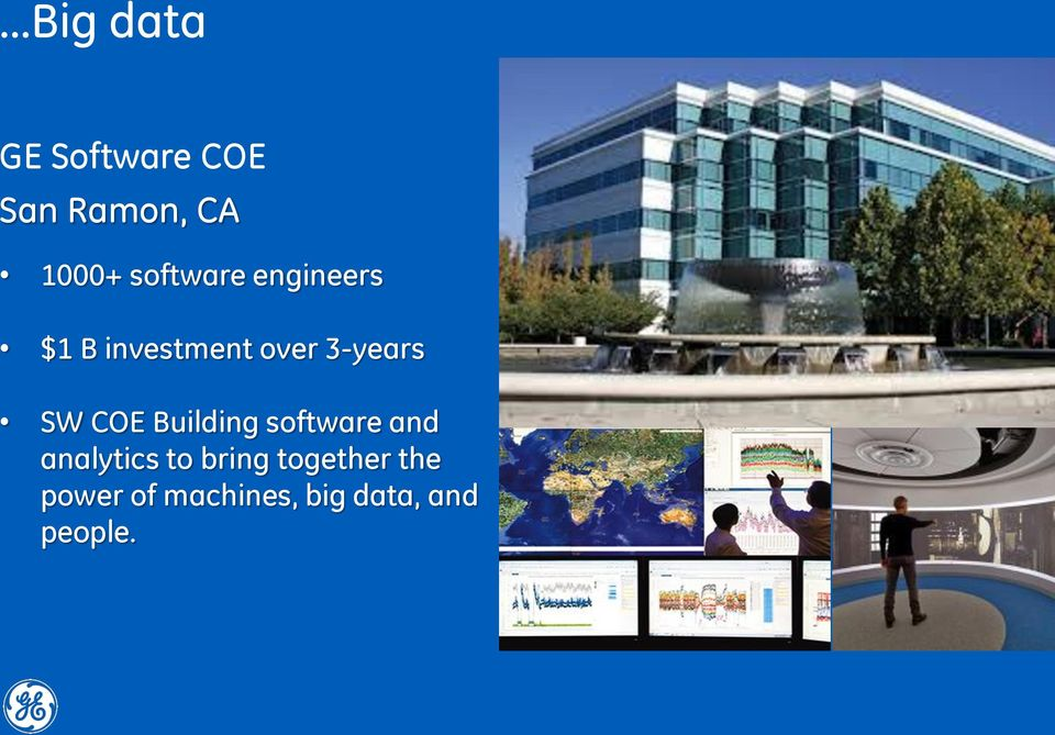 SW COE Building software and analytics to bring