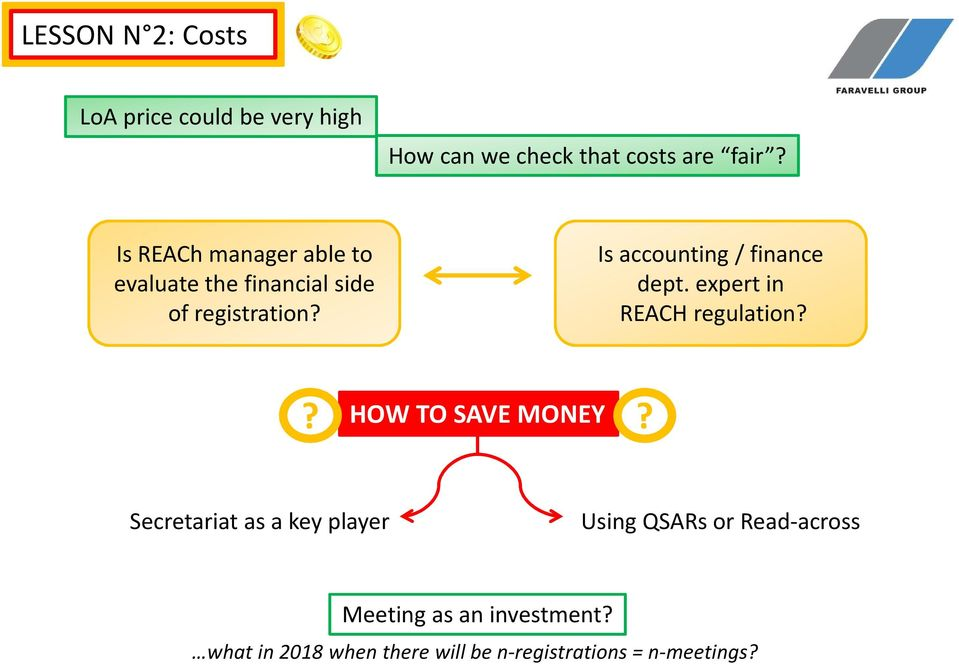 Isaccounting / finance dept. expert in REACH regulation?? HOW TO SAVE MONEY?