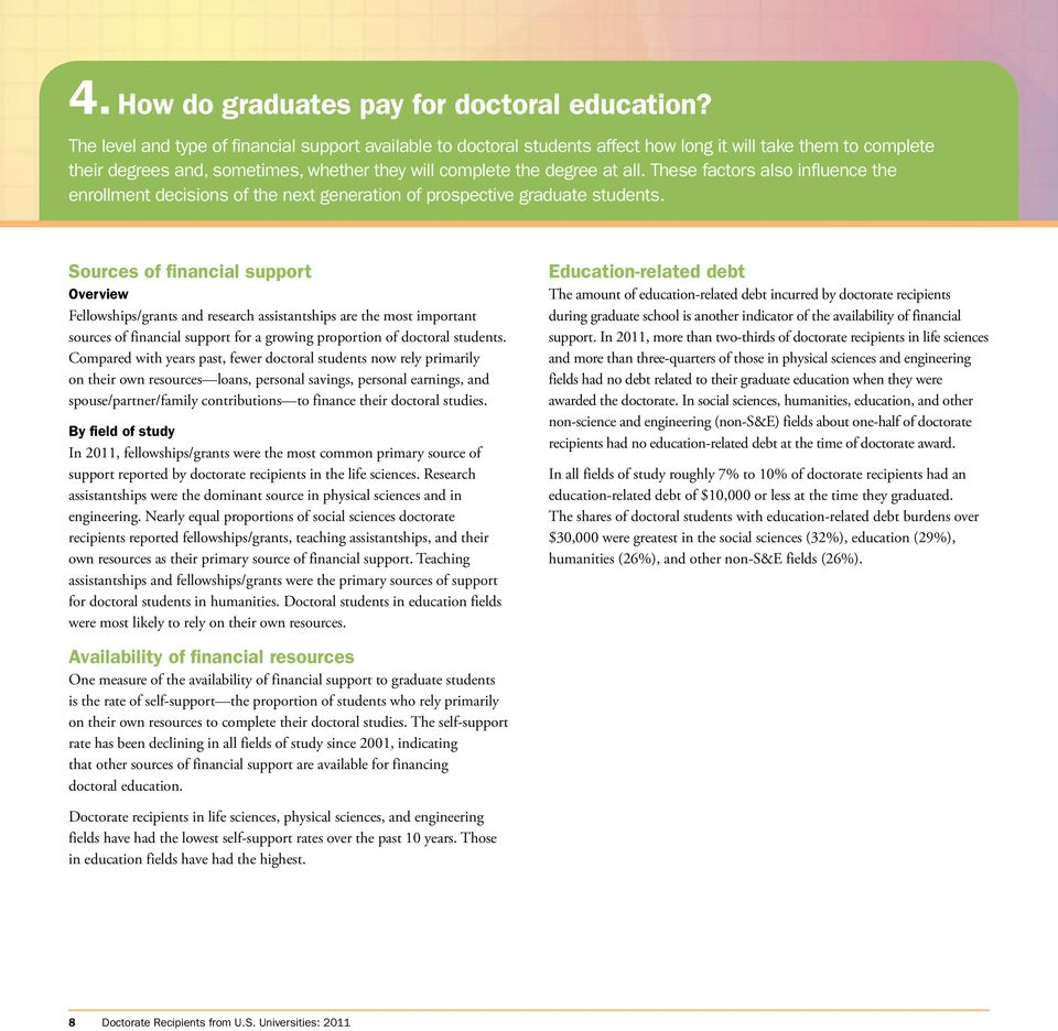 These factors also influence the enrollment decisions of the next generation of prospective graduate students.