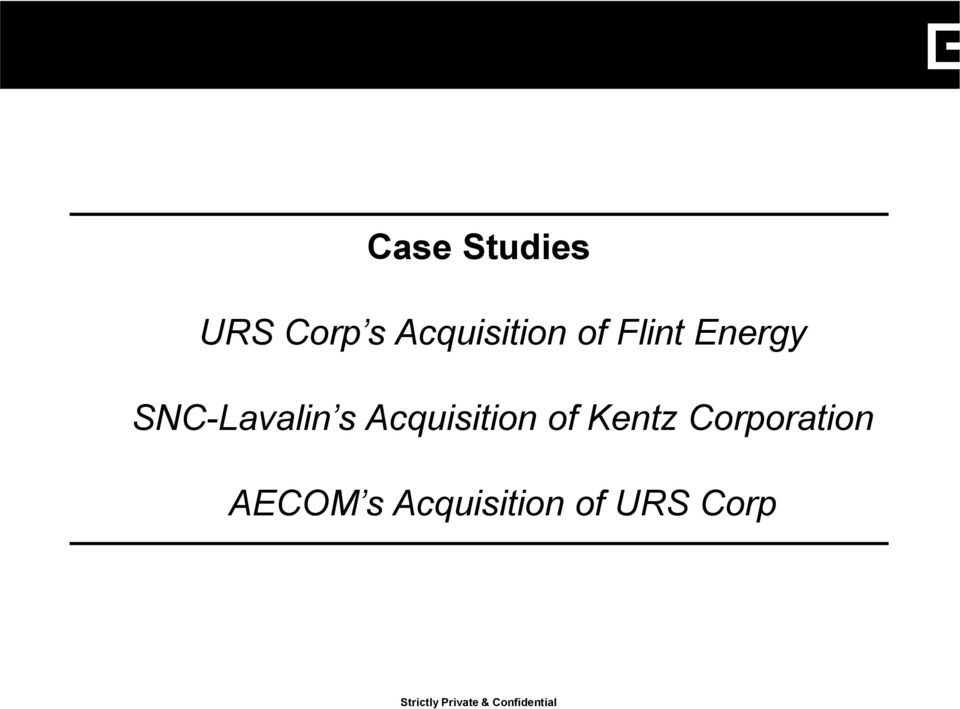 of Kentz Corporation AECOM s Acquisition