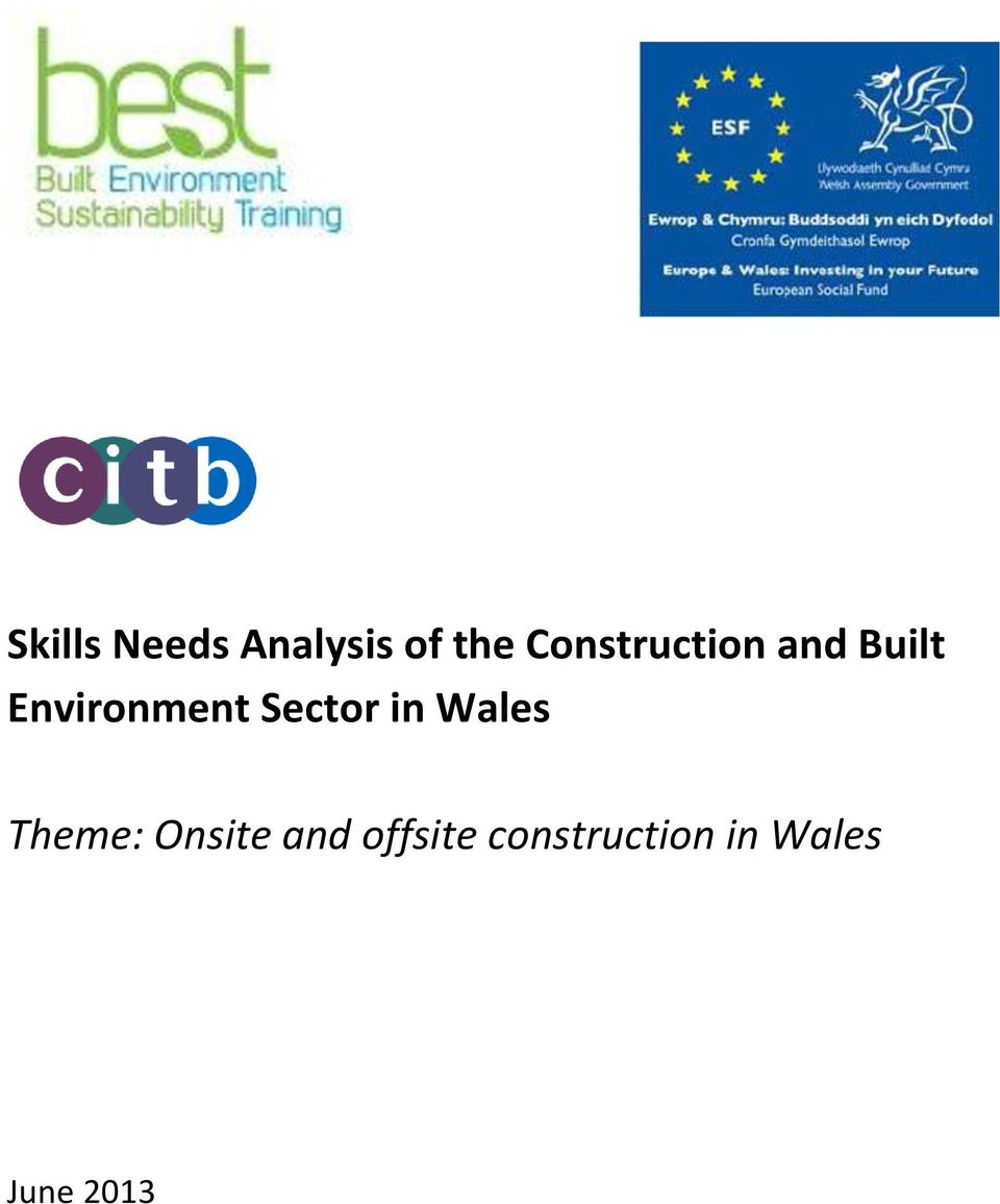 Sector in Wales Theme: Onsite and
