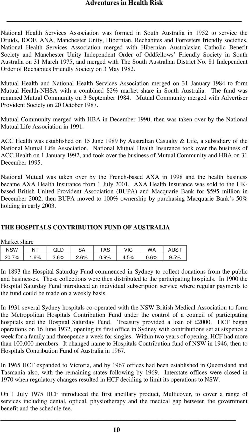 1975, and merged with The South Australian District No. 81 Independent Order of Rechabites Friendly Society on 3 May 1982.