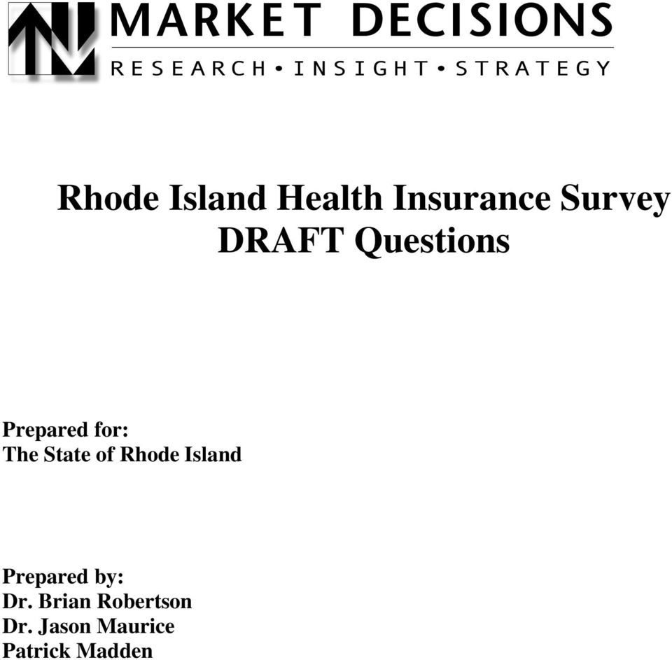 of Rhode Island Prepared by: Dr.