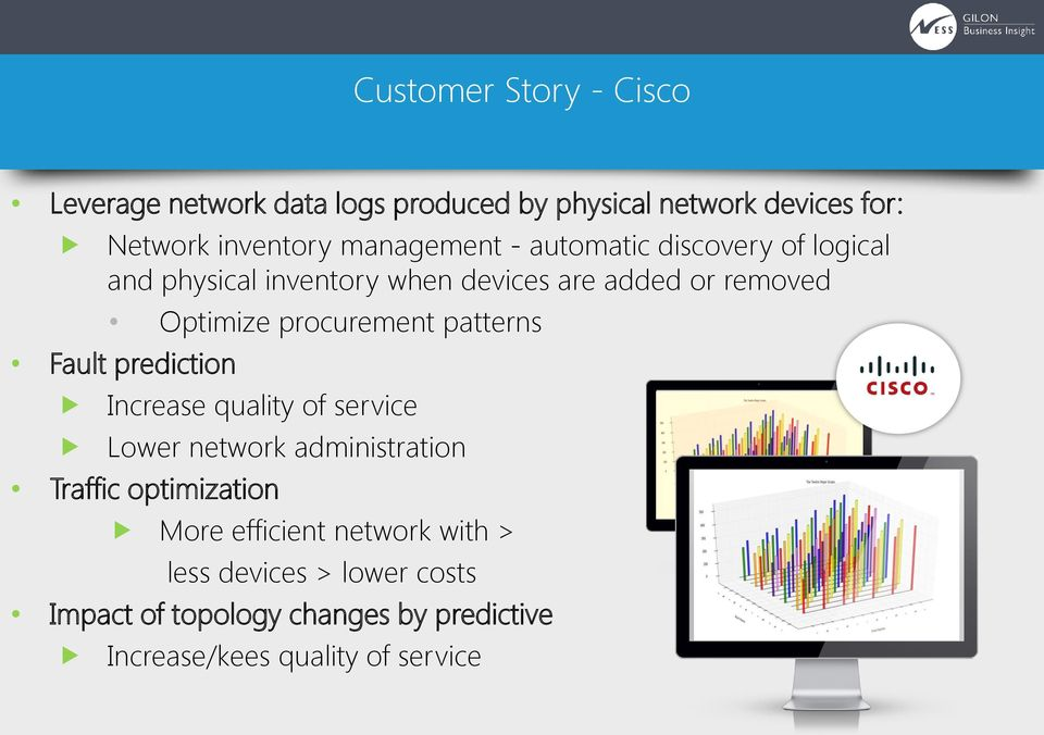 procurement patterns Fault prediction Increase quality of service Lower network administration Traffic optimization