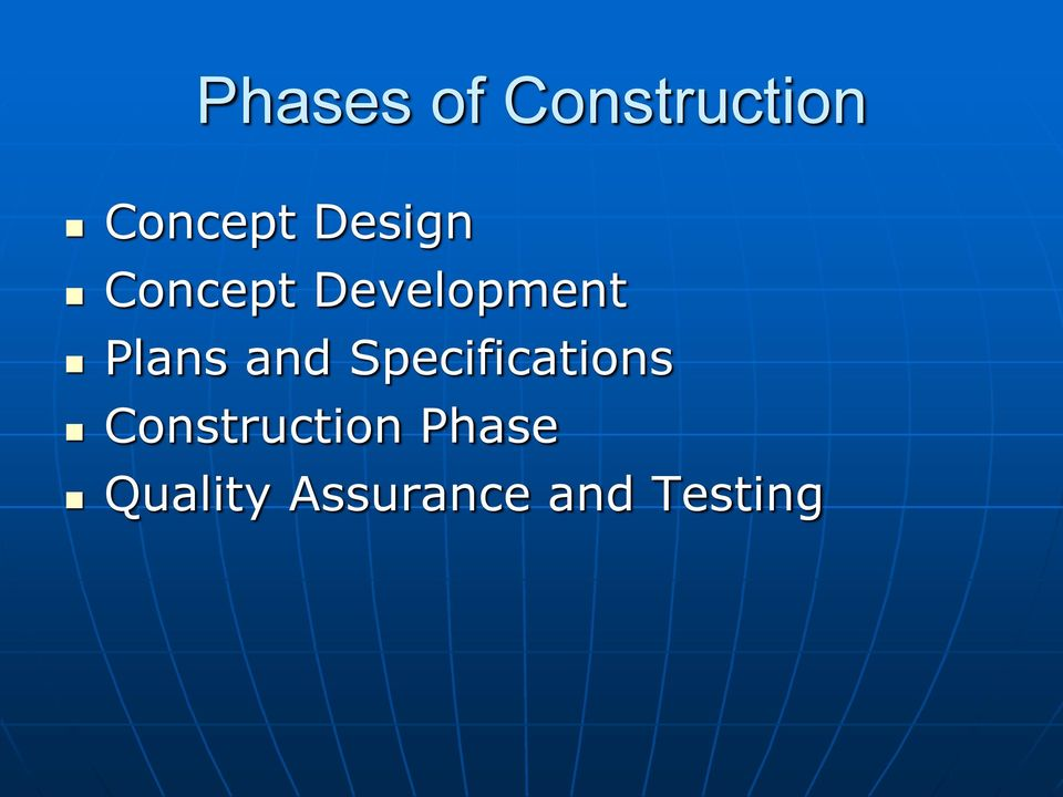 and Specifications Construction