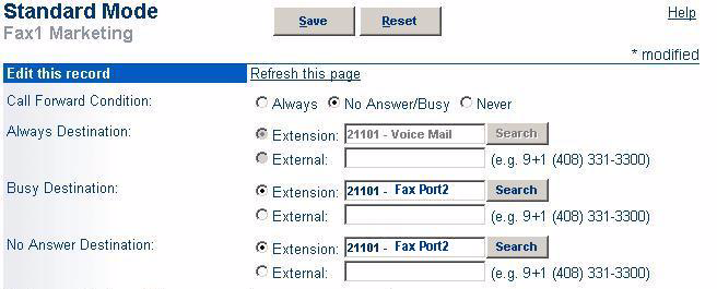 Planning Applications and Services Home Port: Select the Ports radio button and then use the dropdown menu to select the switch where the fax server will be connected.