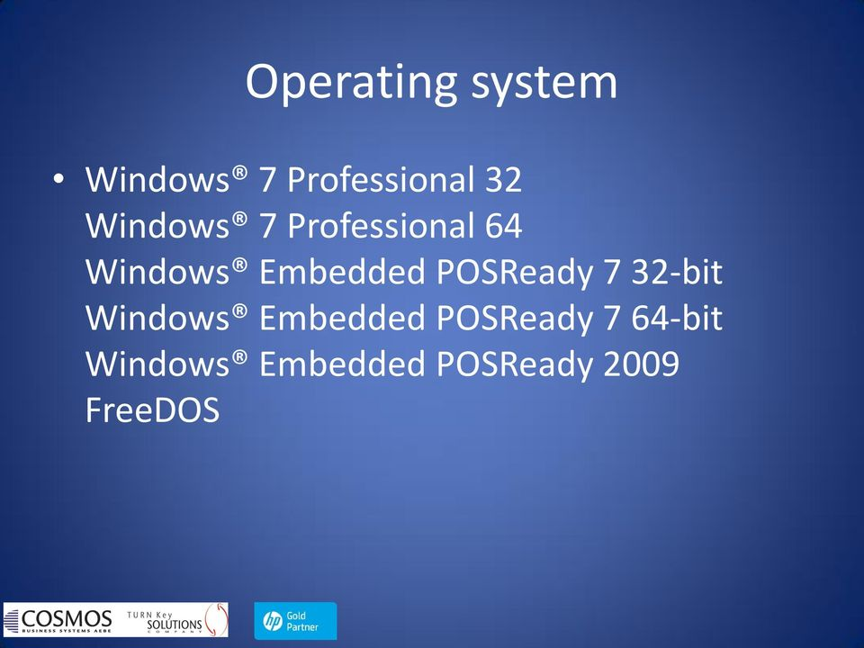 POSReady 7 32-bit Windows Embedded POSReady