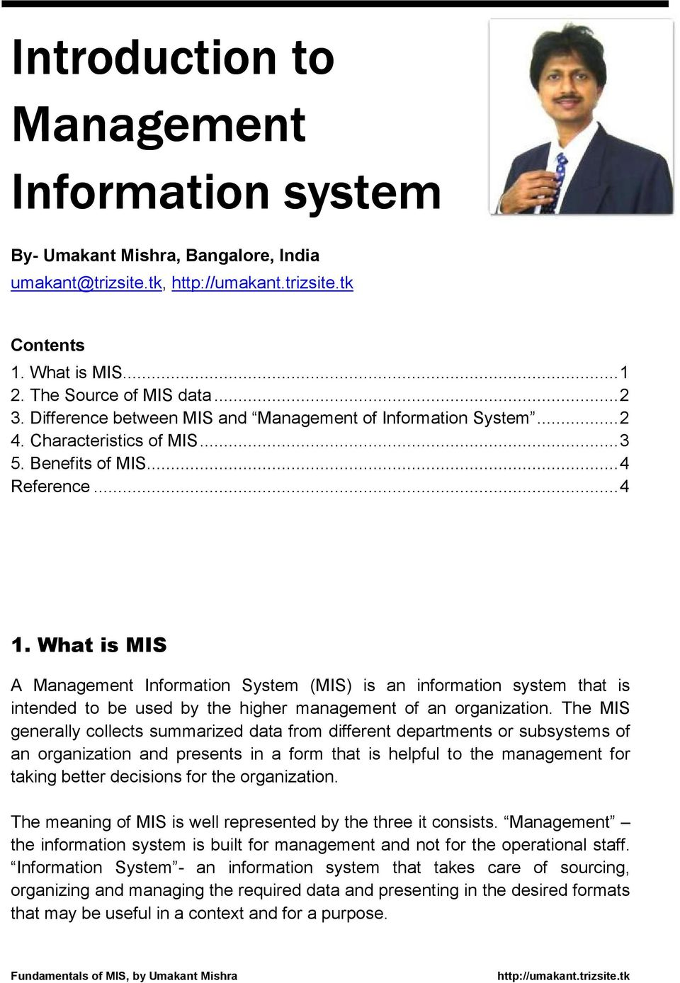 Introduction to Management Information system - PDF