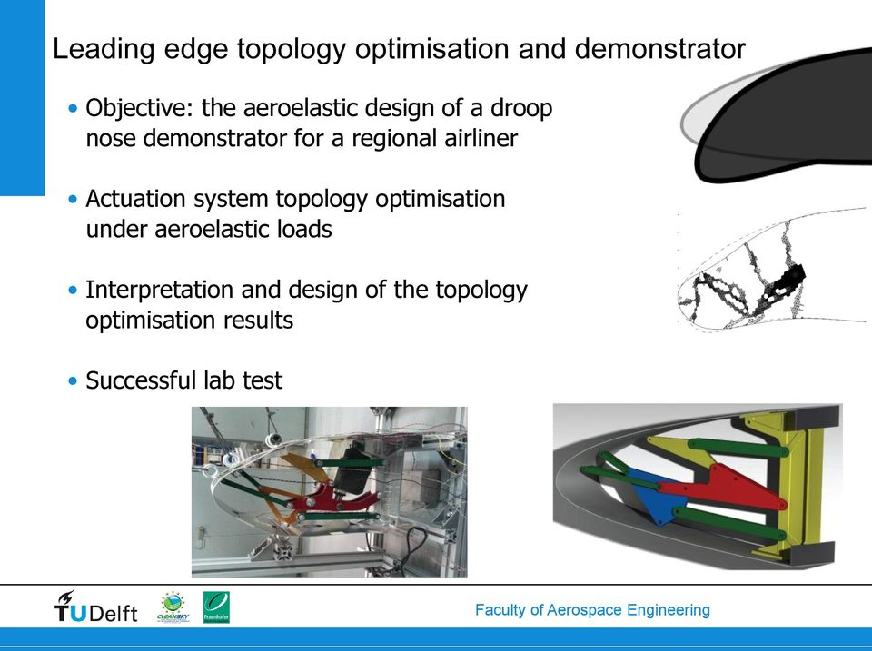 airliner Actuation system topology optimisation under aeroelastic