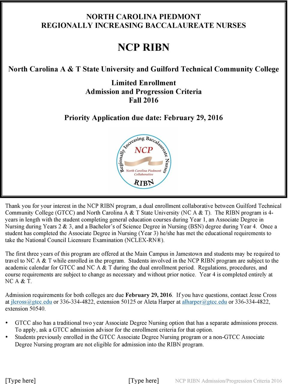 (GTCC) and North Carolina A & T State University (NC A & T).