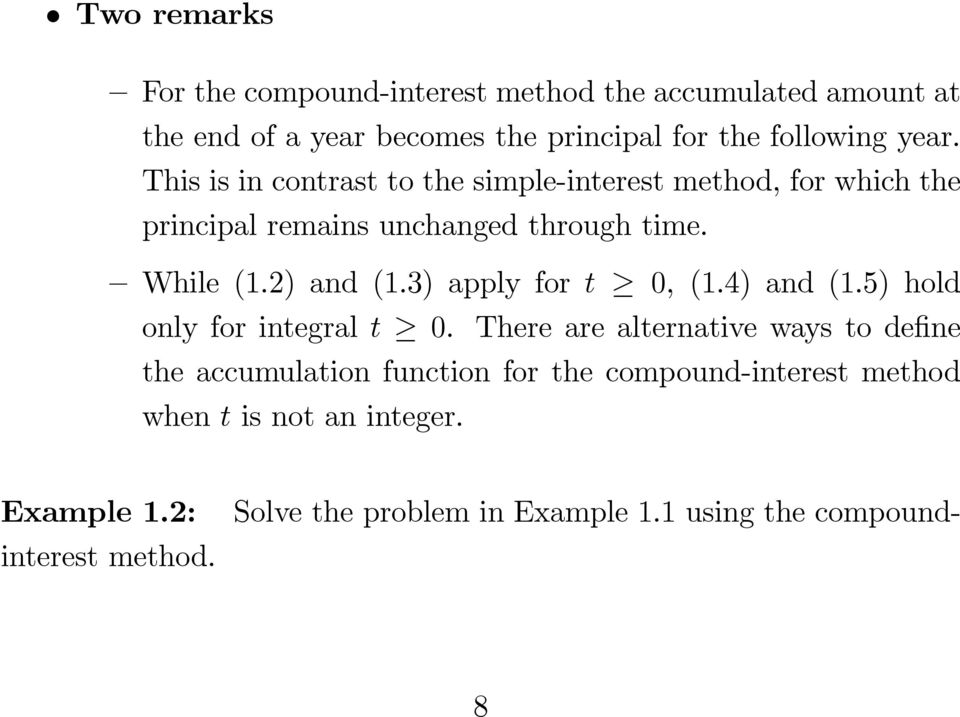 3) apply for t 0, (1.4) and (1.5) hold only for integral t 0.