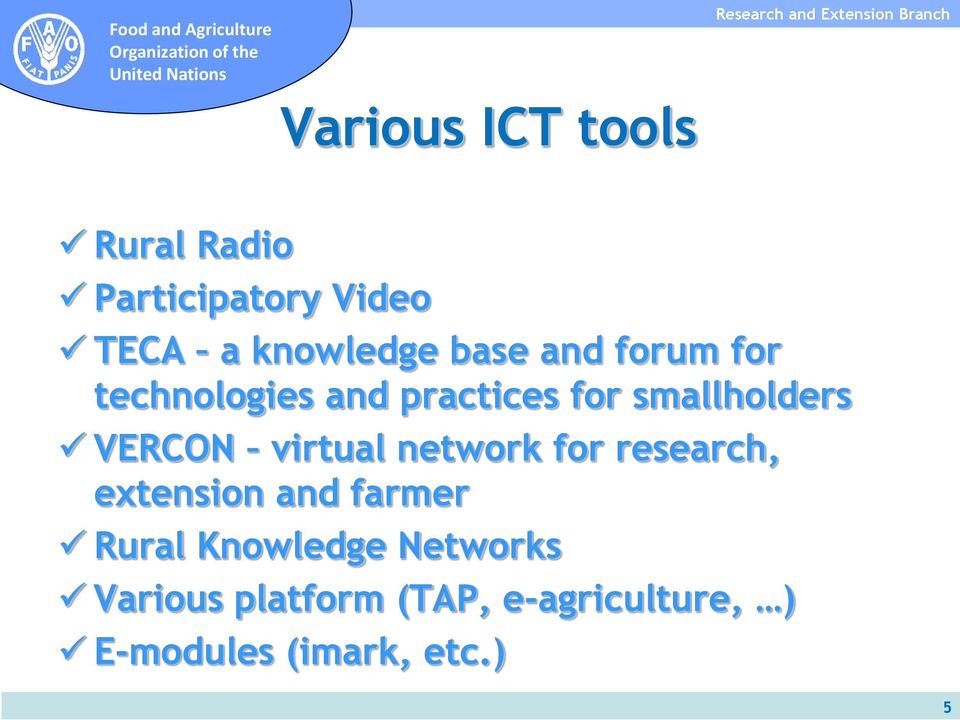 virtual network for research, extension and farmer Rural Knowledge