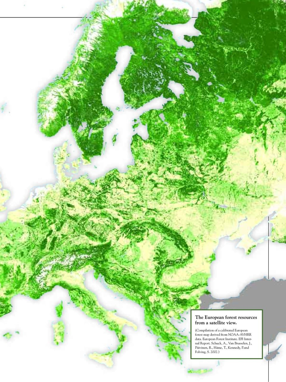 NOAA-AVHRR data. European Forest Institute. EFI Internal Report.