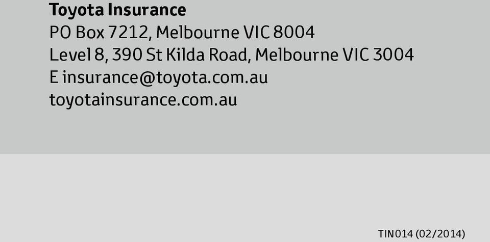 Melbourne VIC 3004 E insurance@toyota.