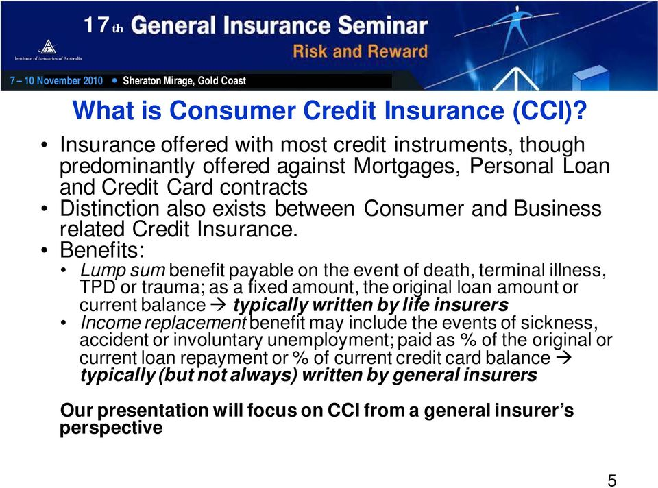 related Credit Insurance.