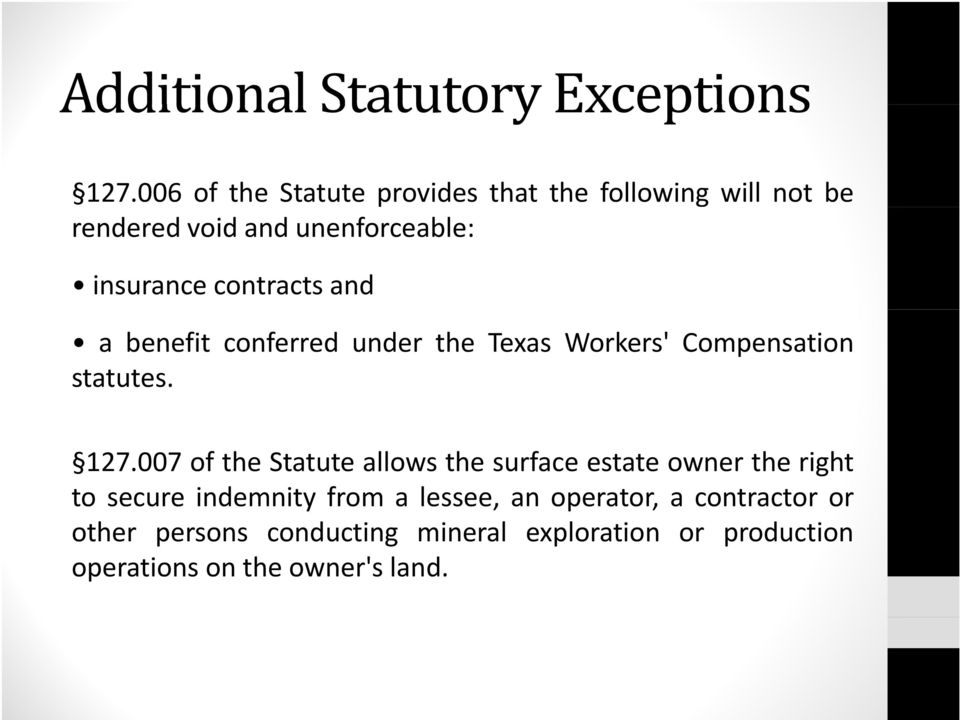 contracts and a benefit conferred under the Texas Workers' Compensation statutes. 127.