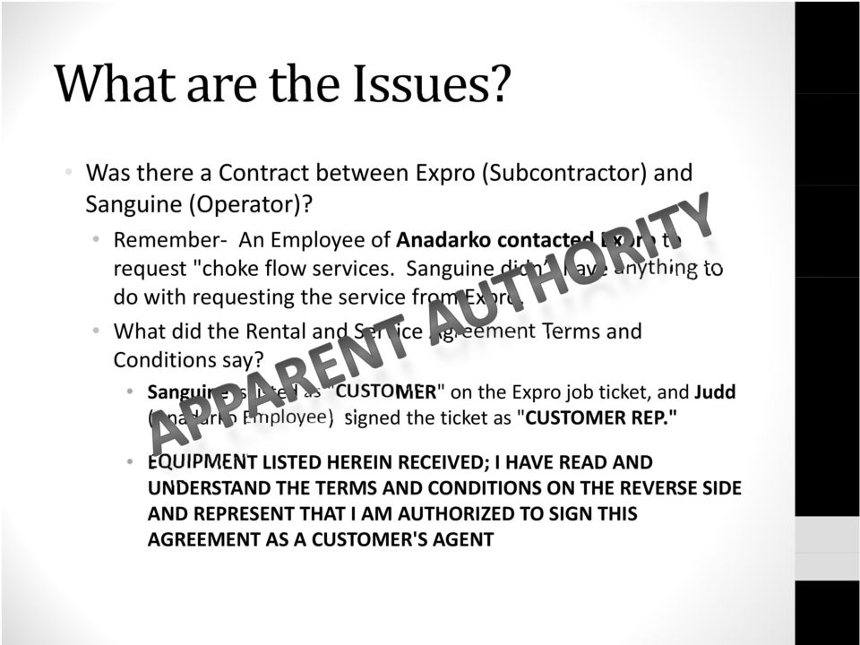 What did the Rental and Service Agreement Terms and Conditions say?