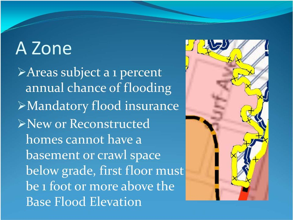 homes cannot have a basement or crawl space below grade,