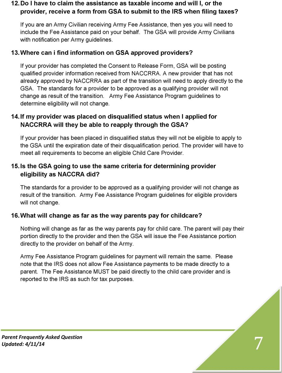 PARENT FREQUENTLY ASKED QUESTIONS - PDF
