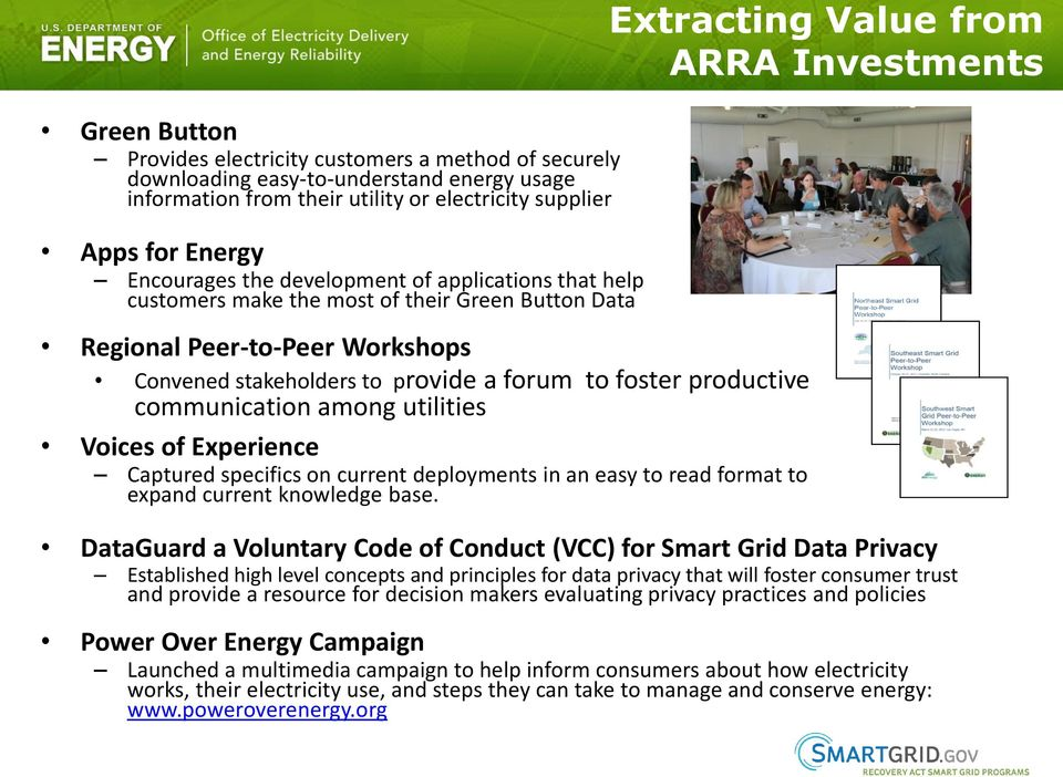 forum to foster productive communication among utilities Voices of Experience Captured specifics on current deployments in an easy to read format to expand current knowledge base.