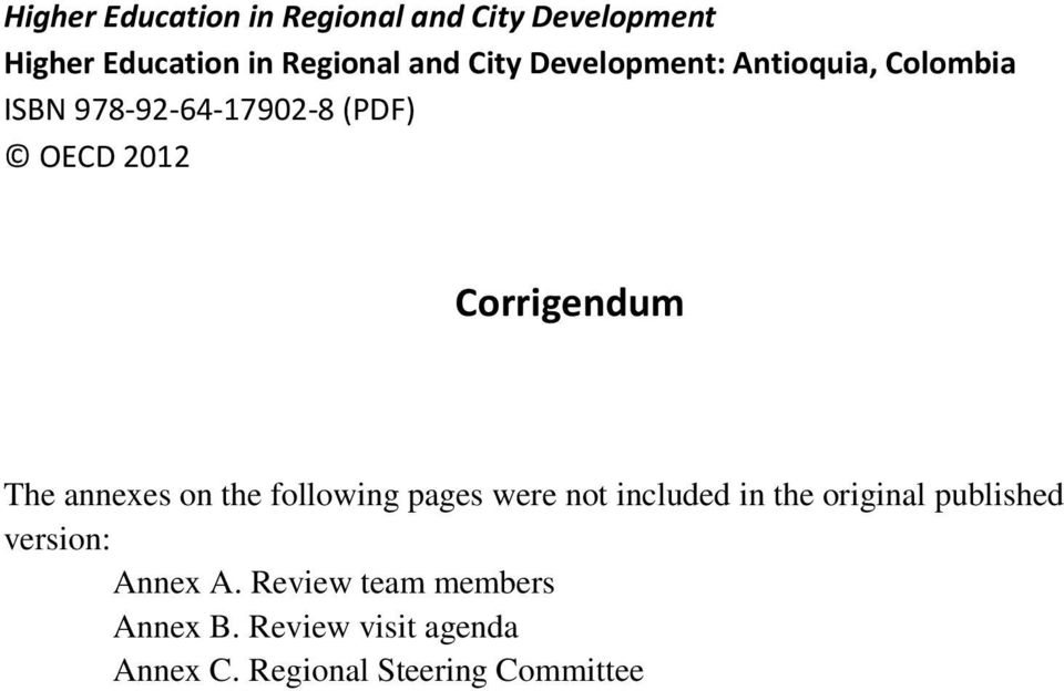 annexes on the following pages were not included in the original published version: