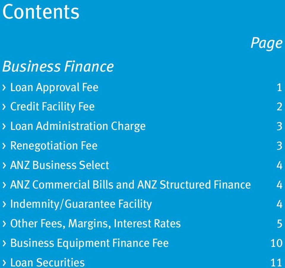 Commercial Bills and ANZ Structured Finance 4 > Indemnity/Guarantee Facility 4 >